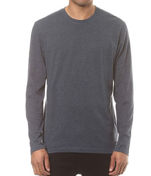 ELEMENT MENS T SHIRT.NEW CREW PLAIN GREY COTTON LONG SLEEVED TOP TEE 7W SA1 519